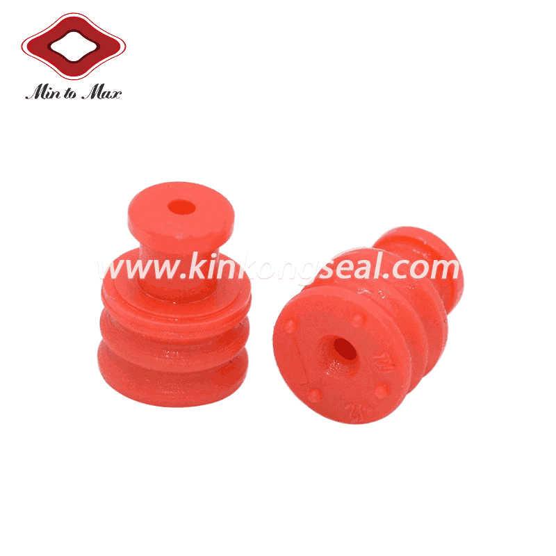 Red Silicone Yazaki Car Conenctor Sealing Plugs 7158-3030-50