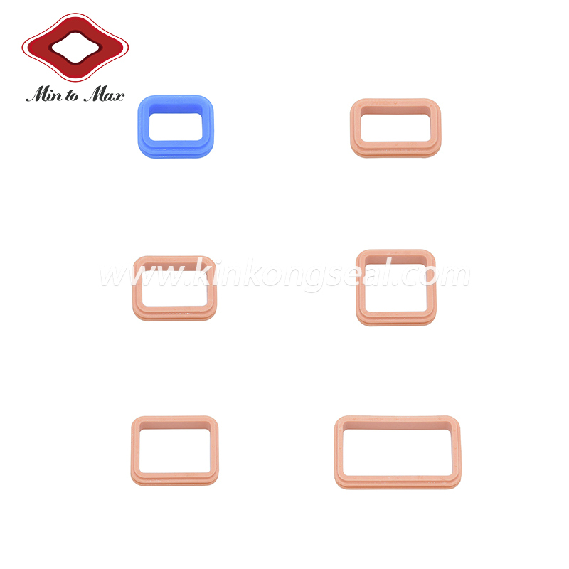 Customized Silicone 8 Pin Ampseal 16 Series Connector Gasket 776494-1
