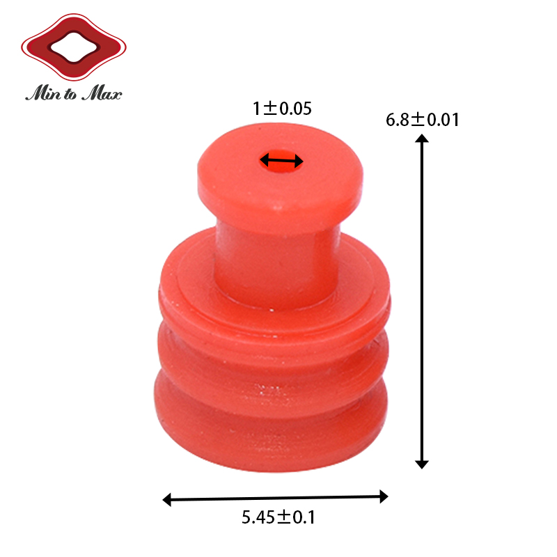 Red Silicone Yazaki Car Conenctor Sealing Plugs 7158-3030-50