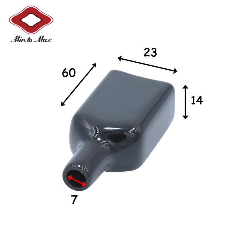 4 Pin Automotive Connector Protector Black Rubber Shell